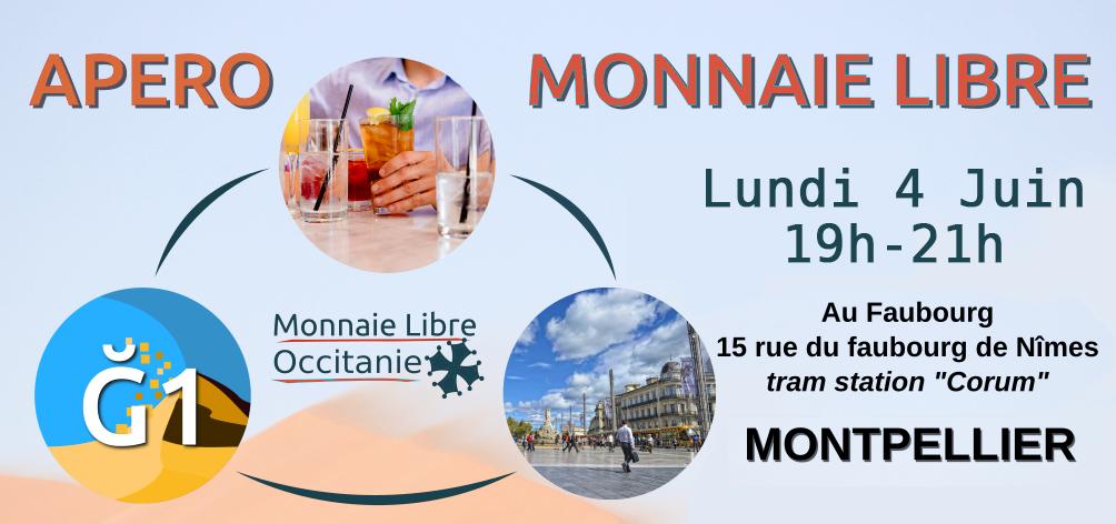 Apéro Monnaie Libre à Montpellier